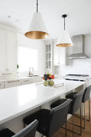 Kitchen Island Light Pendants White And Gold Island Light Pendants Transitional Kitchen