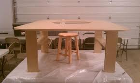 train table plans how to build a train table with hole in center finished in hours
