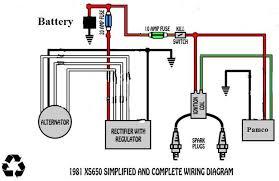 yamaha xs650 wiring diagram wiring diagram weick