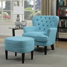 Accent Chairs And Ottomans Fabric Accent Chair With Ottoman Furniture Pinterest