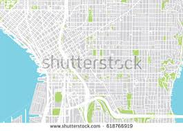 seattle map usa vector city map seattle usa stock vector 618766919