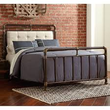 tempur pedic bed frame soho upholstered iron bed in brown copper