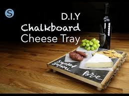 chalkboard cheese plate chalkboard cheese tray diy craft simplemost