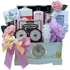 gourmet food gift baskets lace gourmet food and spa gift basket set with clock