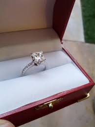 2 carat cushion cut engagement ring reserved for lance not for sale 2 02 carat h color vs1