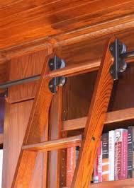 Sliding Bookshelf Ladder 10 U0027 Rockler Classic Rolling Library Ladder Wood Kits Library