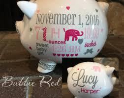 customized piggy bank baby baptism piggy bank etsy