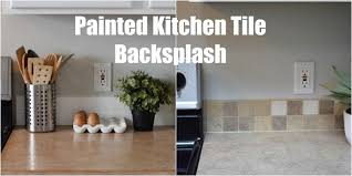 Keep Home Simple Painted Kitchen Tile Backsplash - Painted kitchen backsplash