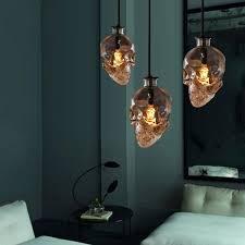 hanging glass pendant lights vintage skull head glass pendant light hanging pendant ls for art