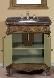 30 Inch Single Sink Bathroom Vanity by 30 Inch Brown Green Single Bath Vanity With Marble Top