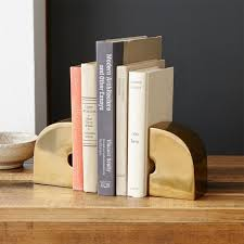 monogram bookends geo brass bookends arc west elm