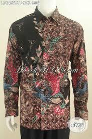 desain baju batik halus baju batik halus lengan panjang di lengkapi furing kemeja batik