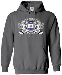 Salvadoran Flag Threadrock Men U0027s El Salvador Lion Crest Flag Hoodie Sweatshirt