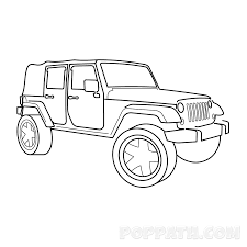 jeep wrangler front drawing how to draw a jeep u2013 pop path