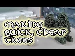 cheap trees for wargaming