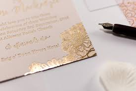 luxury wedding invitations embossed wedding invitation floral bossa luxury wedding