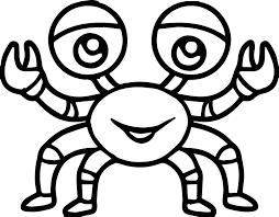 sea life crab cartoon coloring page wecoloringpage