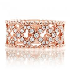 about diamond rings images Diamond ring beaded edge eternity x pave anniversary band rose gold JPG