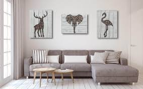 3d metal stag wooden wall décor for living room hallway