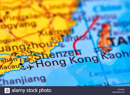 China On A Map by Hong Kong City In China On The World Map Stock Photo Royalty