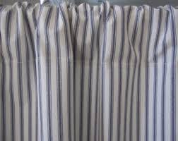 Blue Ticking Curtains Ticking Stripe Curtain Blue Cotton Ticking Curtain 50 X 16