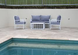 Patio Furniture White Outdoor Furniture Faux Bamboo