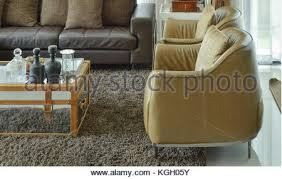 Light Brown Leather Sofa Brown Leather Sofa And Armchairs In Cottage Living Room With Stock