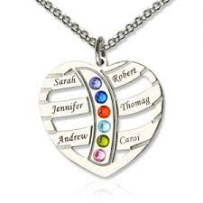 necklace with name and birthstone personalized birthstone necklace