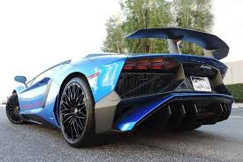 lamborghini aventador california bright blue lamborghini aventador sv hits the market in california