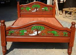 Teak Wood Modern Bed Designs Modern King U0026 Queen Size Carving Teak Wood Platform Bed Frame