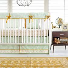 mint deer crib bedding woodland nursery bedding gold and mint
