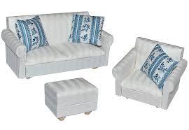 Wohnzimmer Hocker 3 Tlg Set Miniatur Wohnlandschaft Sofa Couch Sessel Hocker