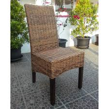 Montgomery Rattan Woven Natural Dining Chairs Set Of - Woven dining room chairs