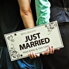 Diy Car Decor Custom Made Just Married Wedding Car Decoration Festive License