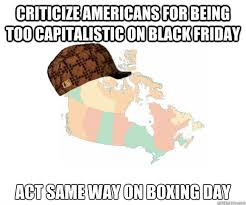 Boxing Day Meme - criticize americans for being too capitalistic on black friday act
