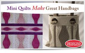 mini quilts make great handbags eileen s machine embroidery