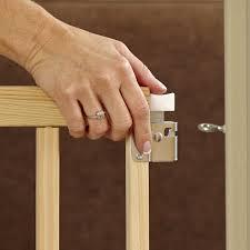 amazon com stairway swing gate fits spaces between 28