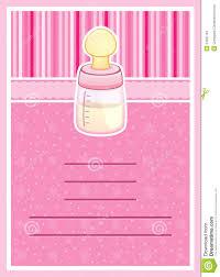 Invitation Card Baby Shower Pretty Baby Shower Invitation Card Baby Bottle Royalty Free Stock