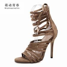 aliexpress com buy women sandals 2017 new gladiator high heels