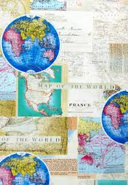 World Map Fabric map fabric world map travel fabric 100 cotton for quilting and