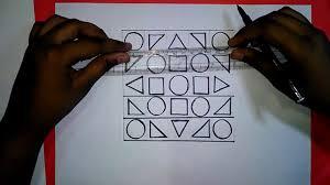 geometric design 5 u0027 u0027x5 u0027 u0027 for jsc students how to draw art and