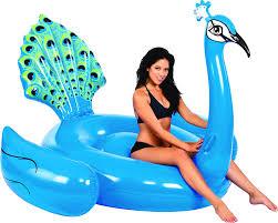 amazon com kangaroo pool floats giant peacock pool raft 7 u0027 pool