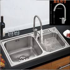 kitchen sink faucet set 304 stainless steel kitchen sink with knife holder stainless steel