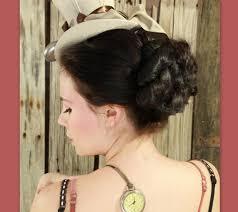 etsy hairpiece formal hair bun updo steampunk victorian costume