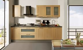 natural simple design of the kitchen cabinets models that has grey