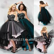 ball gown high low hem sweeteart strapless beaded boning colorful