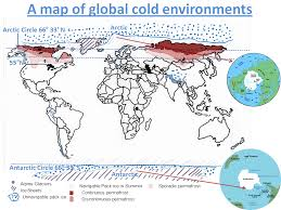 North America Ice Age Map by Cold Environments Distribution