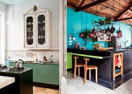 the modern bohemian black kitchen home interior pinterest
