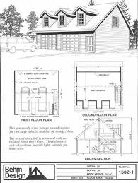 Garage With Loft Over Sized Two Car Garage With Loft Plans 1502 1 30 U0027 X 30 U0027 By Behm