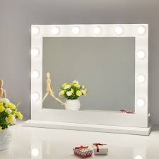 Vanity Set With Lighted Mirror Amazon Com Chende White Hollywood Lighted Makeup Vanity Mirror